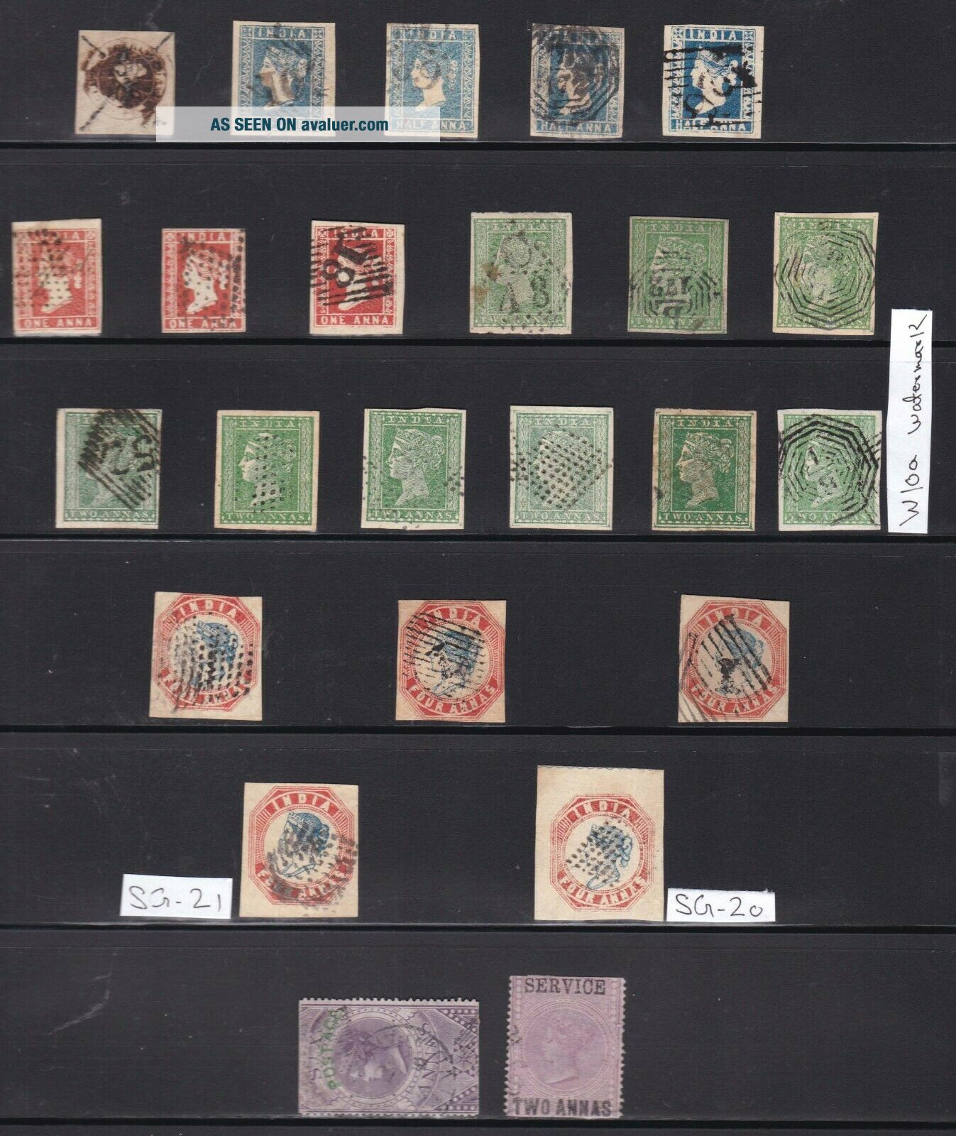 INDIA: 1854 LITHO VF STAMPS LOT,  HUGE CV.