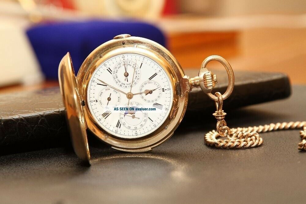 Marshal George Zhukov pocket watch gold Swiss with a minute repeater 14k (585)