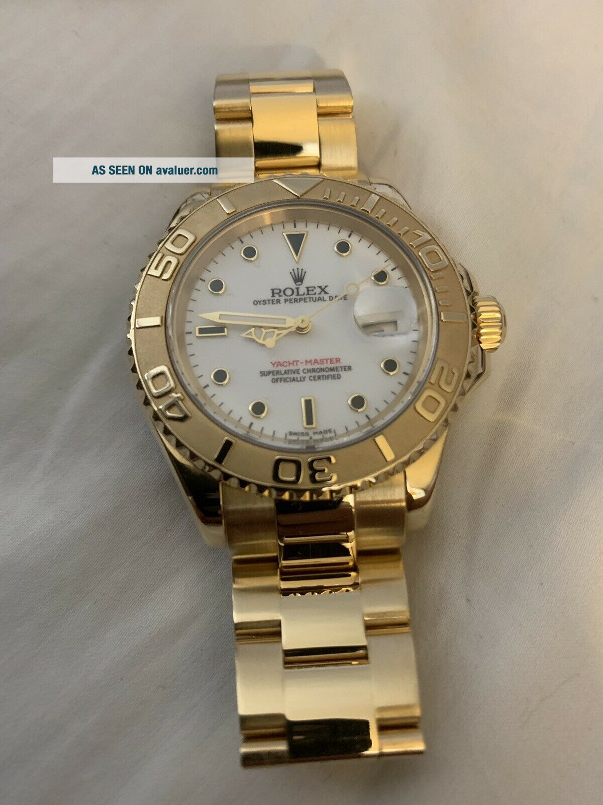 Rolex Yacht - Master 18k Yellow Gold 16628 Papers and Tags Full Bracelet