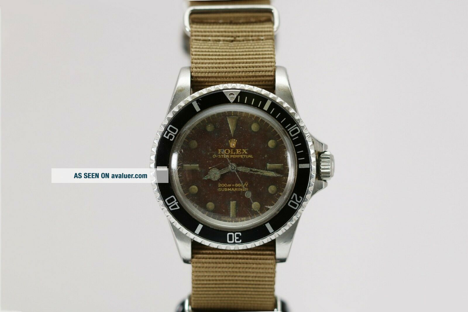 Rolex Submariner Ref 5513 Vintage Gilt Tropical Brown Dial Dive Watch 1960s