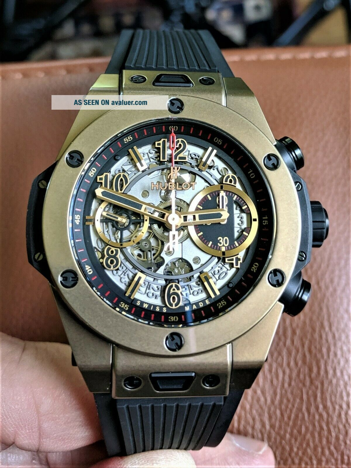 Hublot Big Bang Unico Full Magic 18k Gold Skeleton 411.  MX.  1138.  RX -