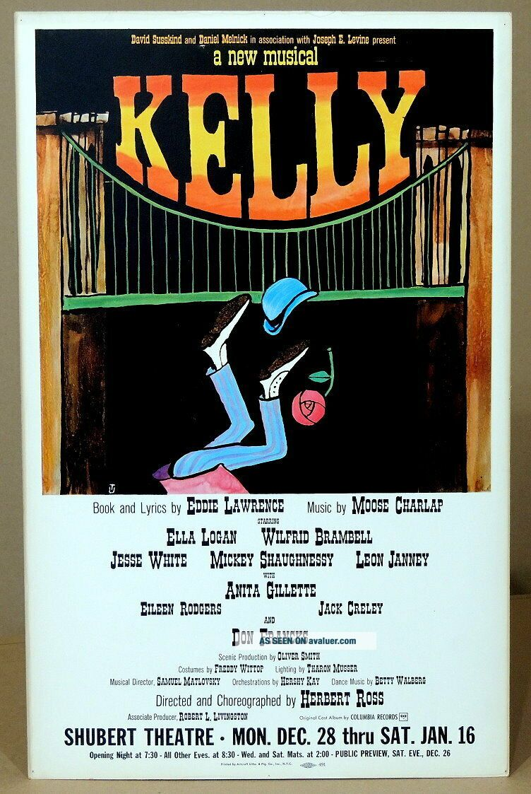 TRITON offers rare orig 1965 B ' way poster KELLY first musical to run only 1 perf