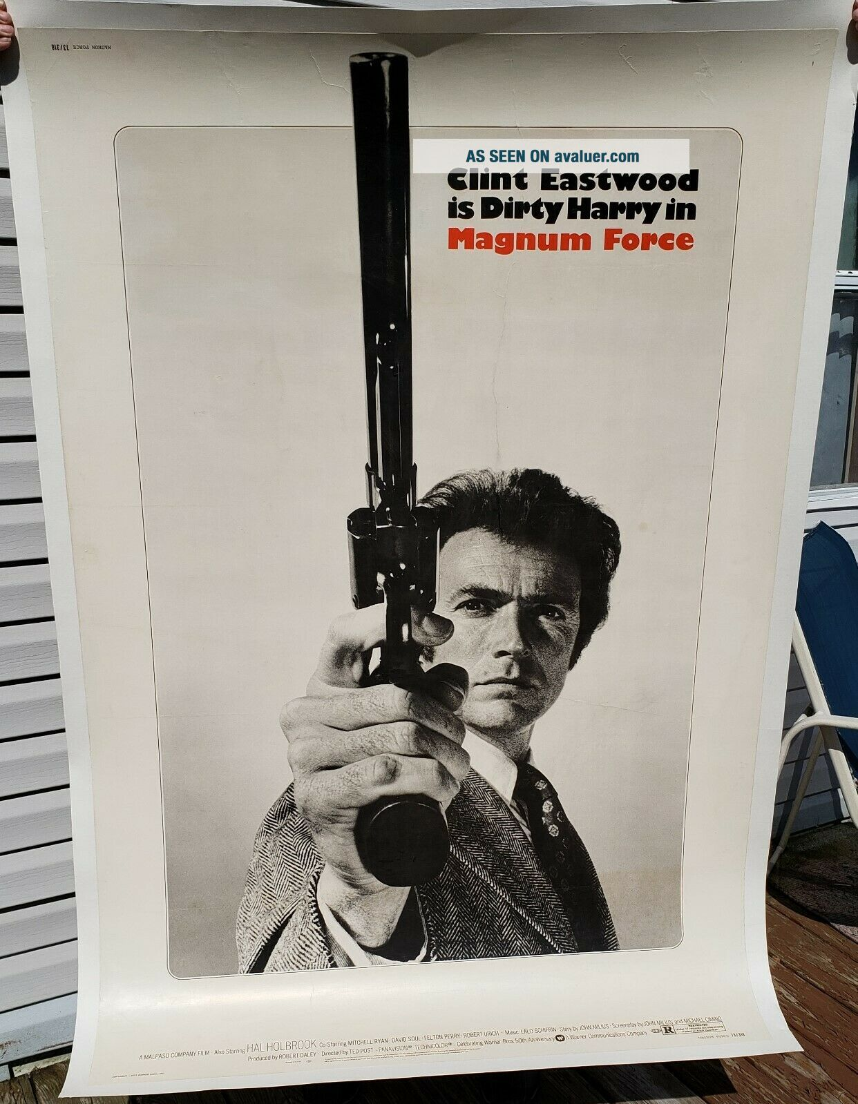 EXTREMELY RARE vintage movie poster.  MAGNUM FORCE 40x60 Clint Eastwood LAST LIST