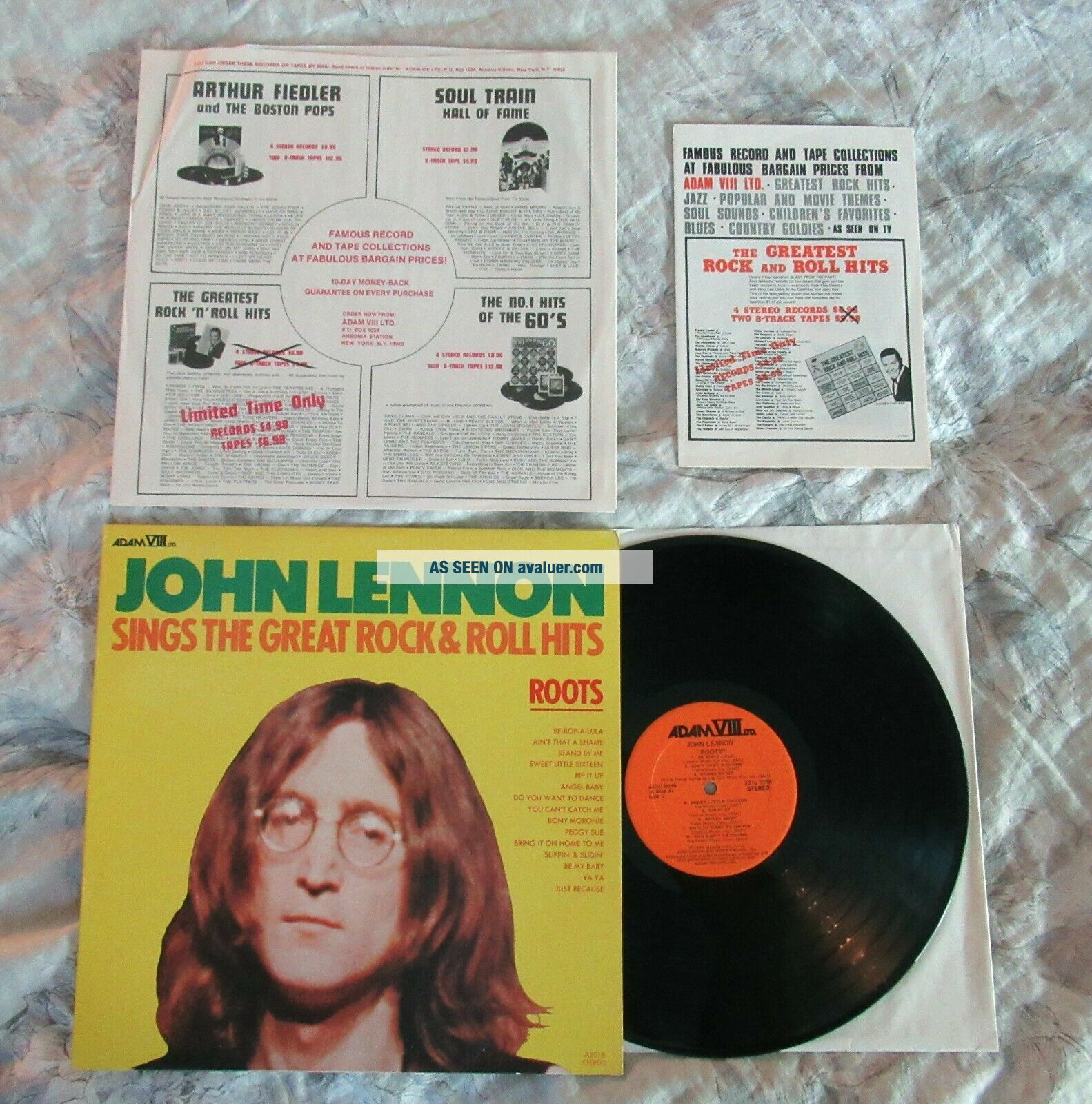 Beatles OUTSTANDING 1975 JOHN LENNON ' ROOTS ' AUTHENTIC LP NEAR W INNERS