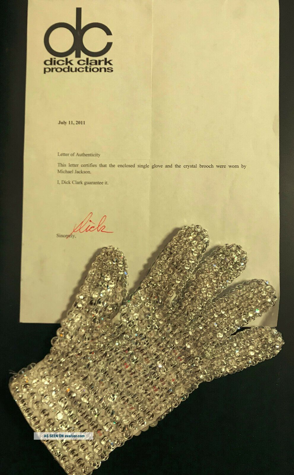 Michael Jackson Worn Crystal Glove