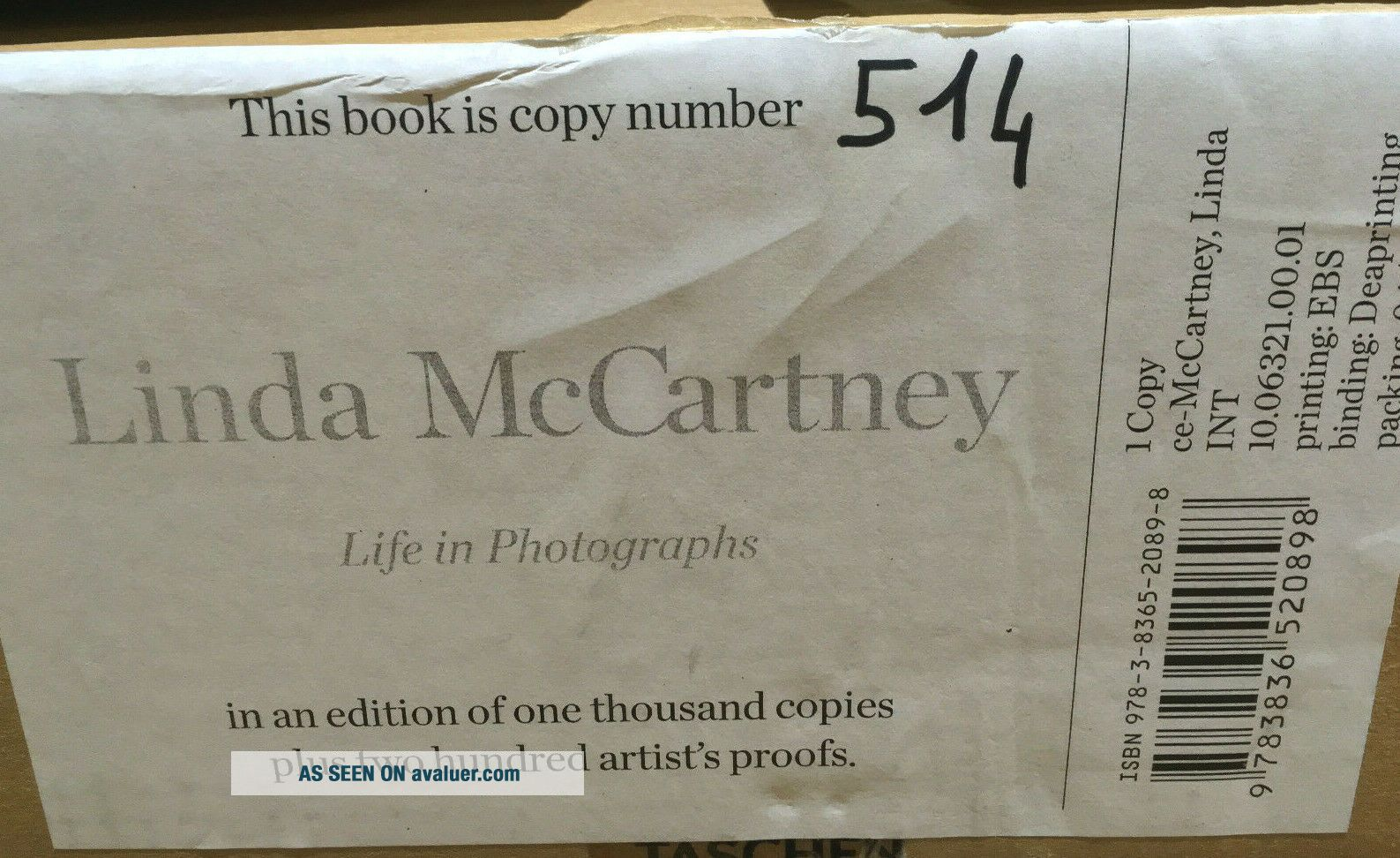 Beatles Paul McCartney SIGNED Taschen Life in Photographs Book IMMACULATE