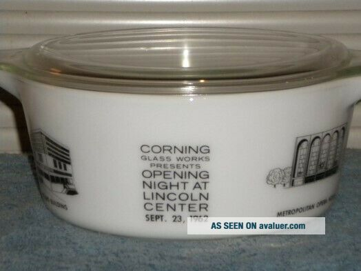 Vintage Pyrex rare HTF Lincoln Center Promotional Casserole 475