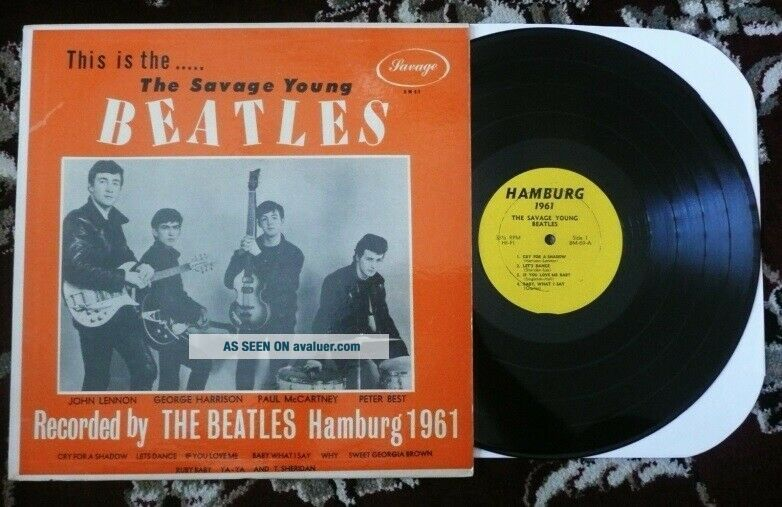 Beatles ULTRA RARE VINTAGE 1964 ' SAVAGE YOUNG BEATLES ' ORANGE COVER LP